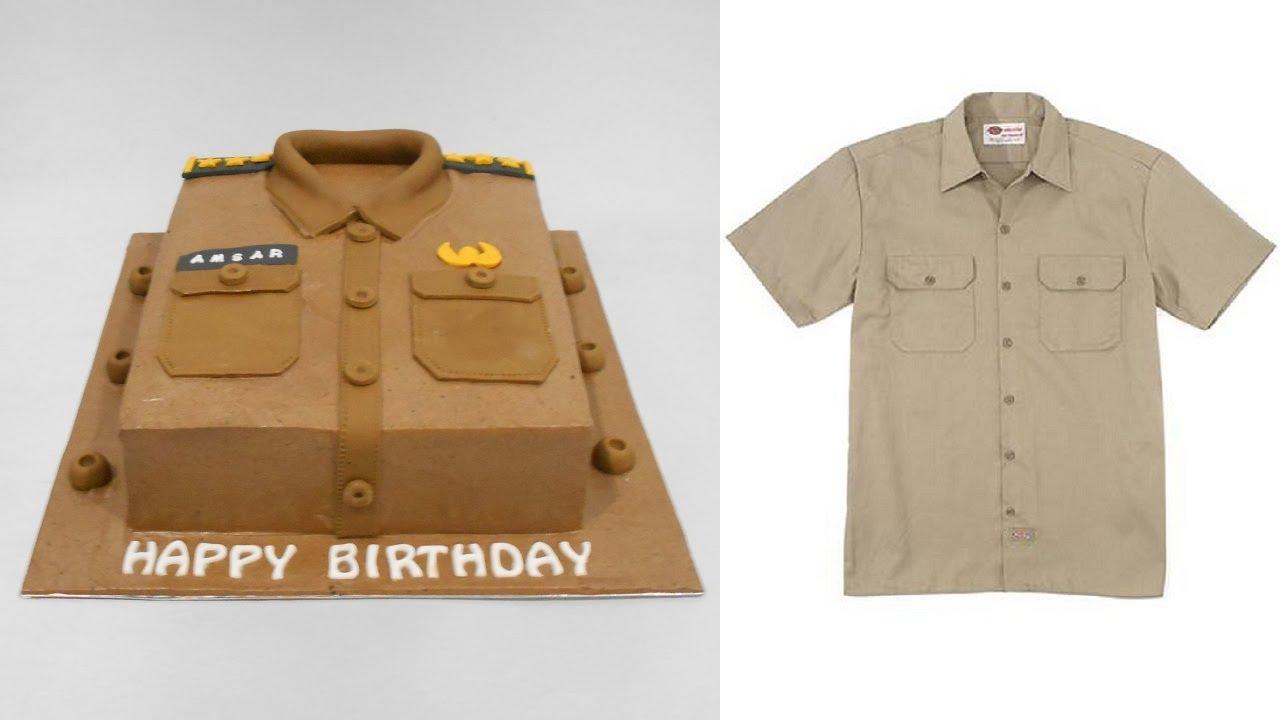 Shirt design cake - Shirt Cake Decoration Uniform