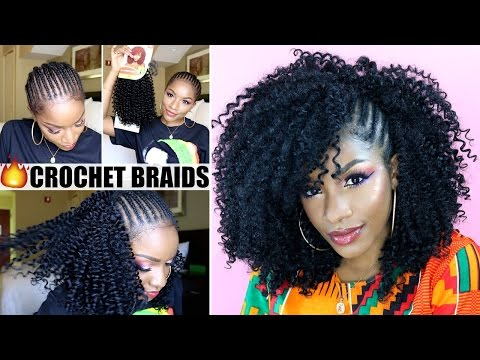 Crochet Braids With Exposed Side Braids Tutorial