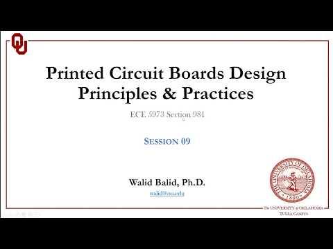ECE5973-S2019-Session 09: PCB Design Principles and Practices using Altium Designer 19.1