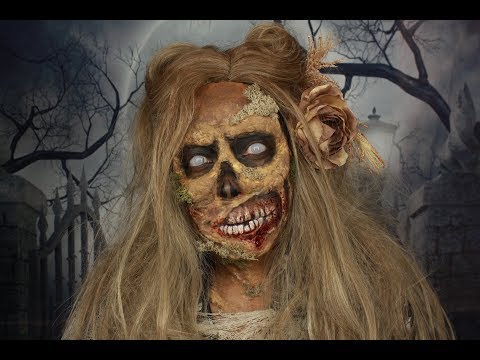 ZOMBIE Pinup Halloween look, using Mehron makeup, James Charles palette and Latex! thumbnail