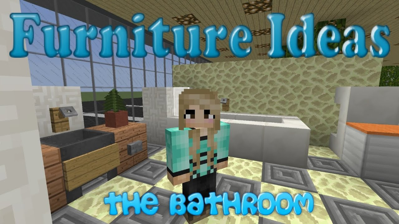 Bathroom Ideas Minecraft minecraft furniture ideas: #5 kiwi designs for the bathroom - youtube