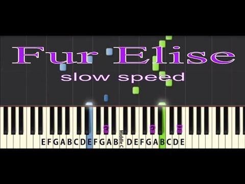 Fur Elise Tutorial: Slow speed
