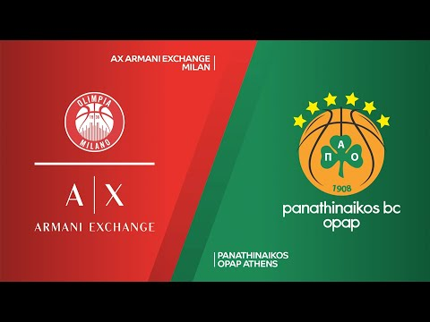AX Armani Exchange Milan - Panathinaikos OPAP Athens Highlights | EuroLeague, RS Round 12