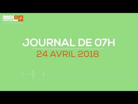Le journal de 07H00 du 24 avril 2018-Radio Côte d'Ivoire