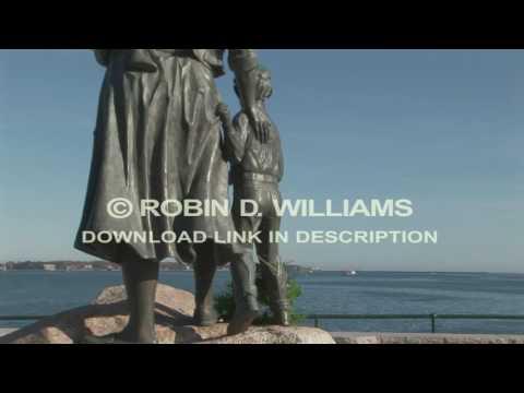 Fishermen's Wives Memorial Bronze Statue Gloucester, Massachusetts - USA