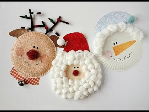60 christmas decorations using paper plates-christmas craft - paper plate angel - paper plate craft & 60 christmas decorations using paper plates-christmas craft - paper ...
