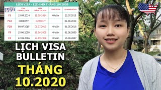 Lịch Visa Tháng 10/2020   Năm Tài Khóa 2021 Các Diện F Đứng Yên