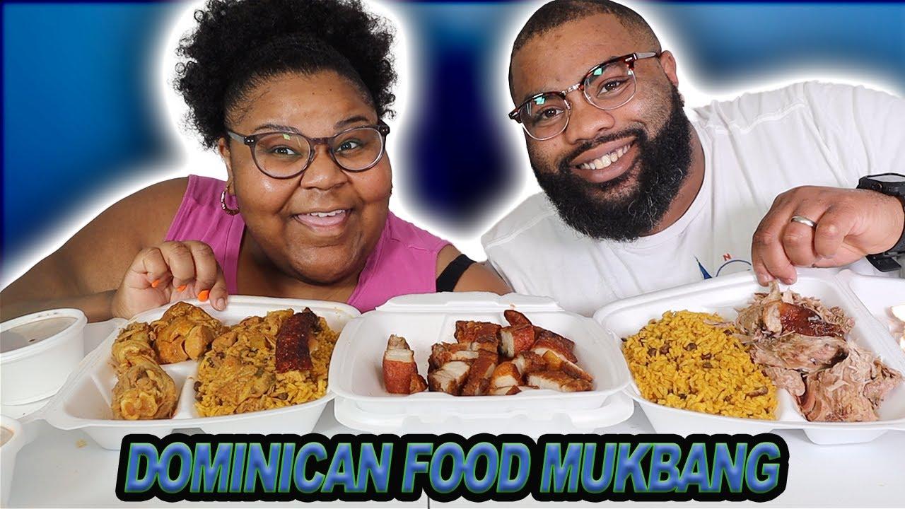 DOMINICAN FOOD MUKBANG|  pr gang|  caldo de pollo|  pollo al ajillo|  dominican republic