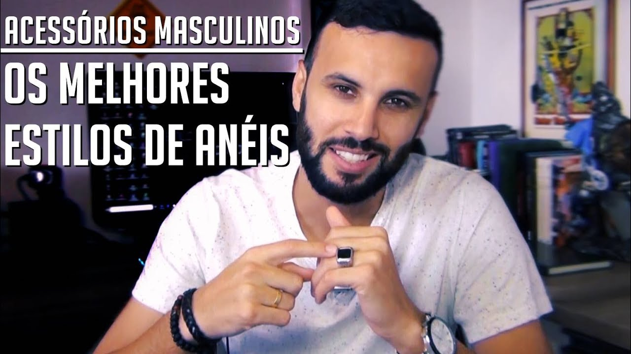 ANEL PARA HOMENS - QUAL ESCOLHER  COMO USAR ACESSÓRIOS MASCULINOS ... 87cc9be375