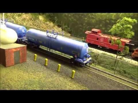 Model Railroad Update 14 (Falls Creek Scenery)