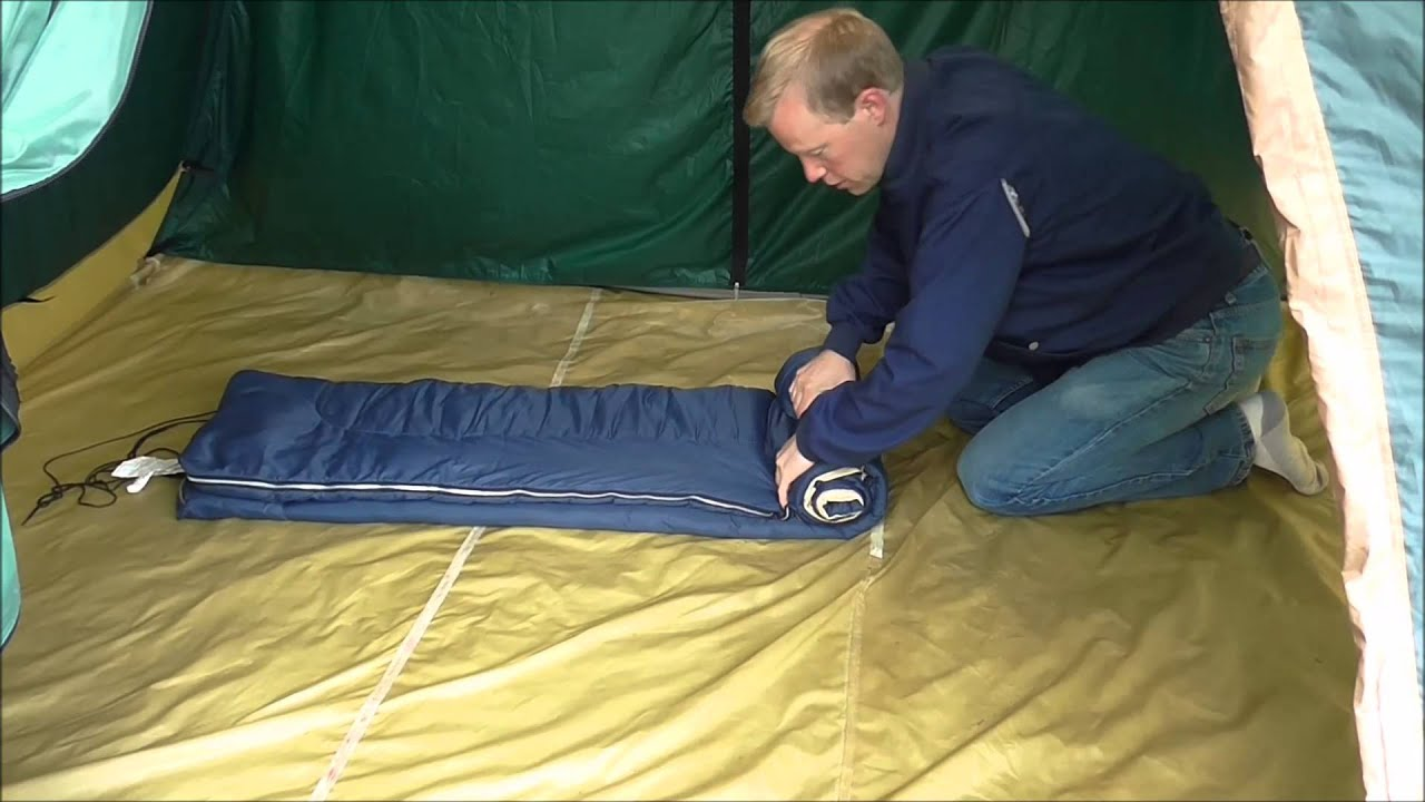 How To Ly Roll Up A Sleeping Bag
