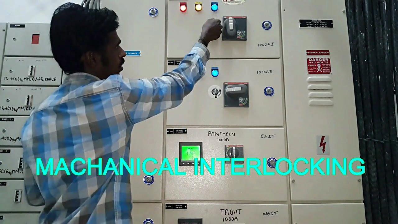 Machanical interlock, Electrical panel machanical interlocking ...