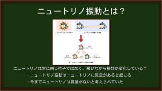 ノーベル物理学賞で話題となった、ニュートリノ振動についての解説動画...