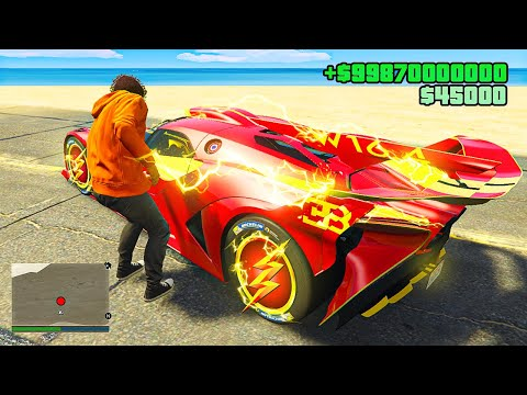 Stealing FLASH SUPERCARS in GTA 5 RP!
