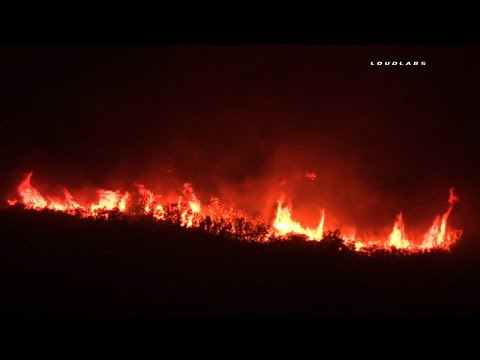 Sand Fire Homes Destroyed / Sand Canyon  RAW FOOTAGE