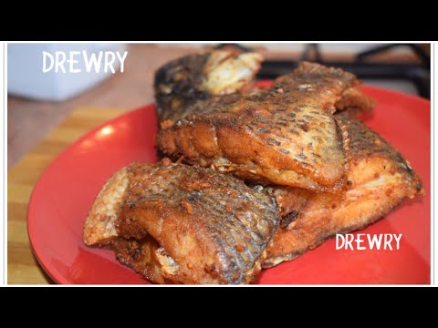 BEST FRIED TILAPIA RECIPE (WITH TOMATO/ONIONS TOPPING)
