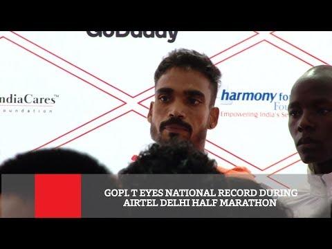 Gopi  T Eyes National Record During Airtel Delhi Half Marathon