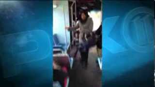 Bus driver attacked by an out-of-control low-life woman in New York