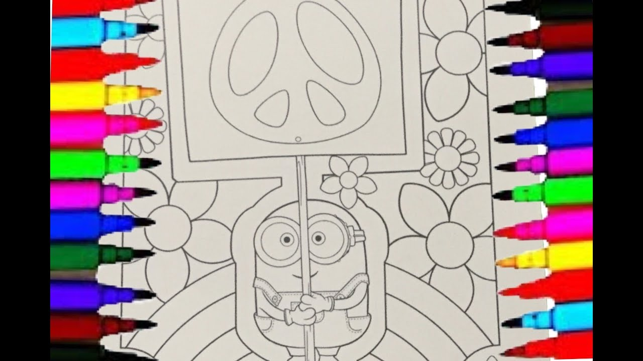 minion bob coloring pages despicable me coloring videos for