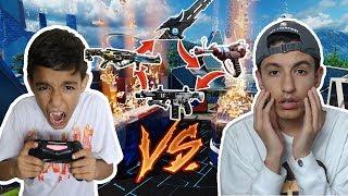 Black Ops 3 DLC Weapon Gun Game 1v1 Against Little Brother! (I RAGED)