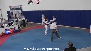 59kg Semifinal Sude Yaren Uzunçavdar vs N Erdogan 2019 Turkish Cadet Taekwondo Chionships