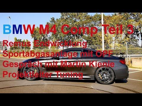 BMW M4 Comp OPF Remus Sportauspuff Endwicklung Teil 3