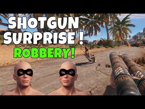 RUST | ROBBING PLAYERS WITH SHOTGUNS! thumbnail