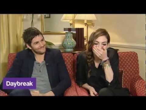 ITV Daybreak  Jim Sturgess & Anne Hathaway