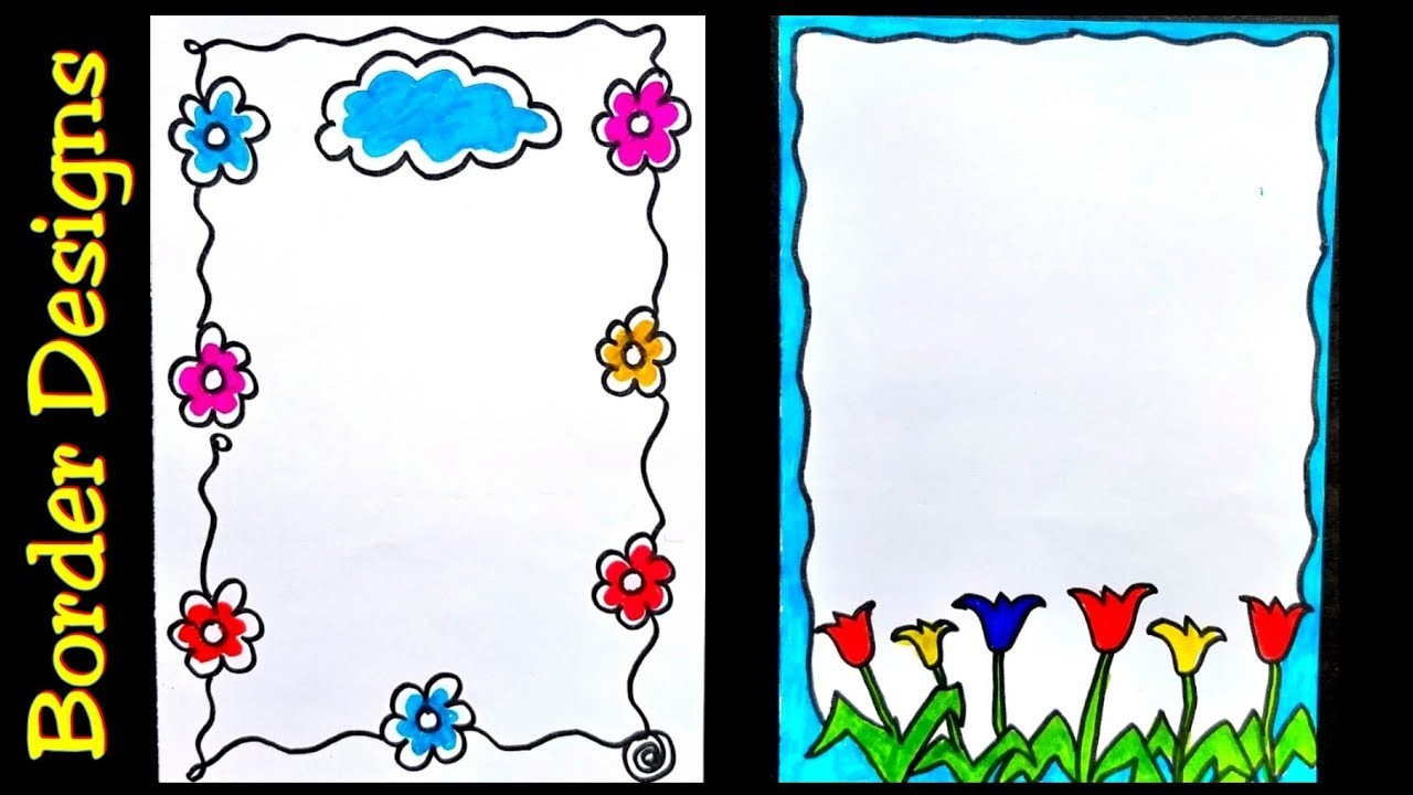 The borders are sized for use with 8.5 x 11 paper. Printable A4 Paper Border Designs For Projects Pic Humdinger