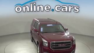 A10732TR Used 2018 GMC Yukon XL SLT 4WD Red SUV Test Drive, Review, For Sale