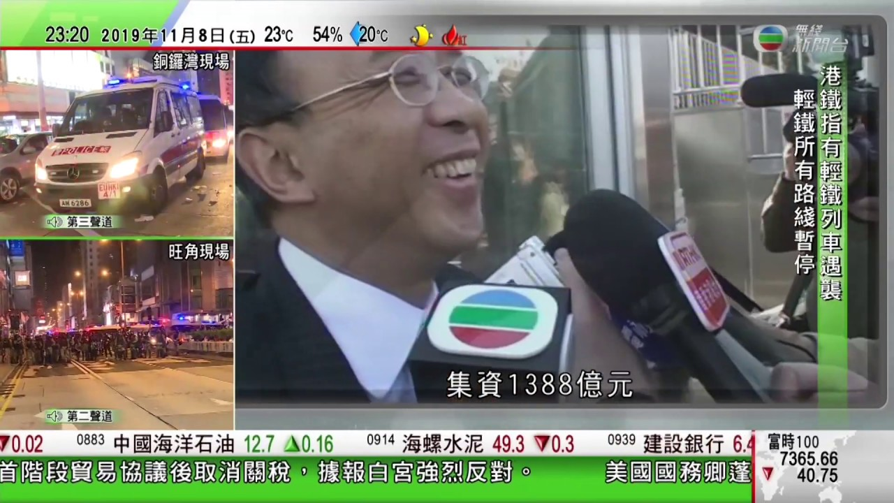 2019-11-08 2319-2456 TVB無線新聞臺第二聲道旺角,將軍澳現場 - YouTube