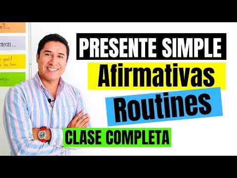1. PRESENTE SIMPLE Oraciones Afirmativas | Cómo HABLAR De RUTINAS En INGLÉS | REGLAS Para AGREGAR -S