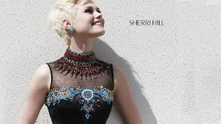 Sherri Hill 32004 Little Black Dress High Collar Cocktail-Length