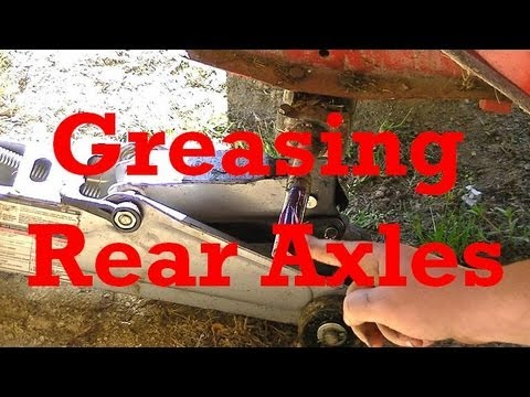 Greasing Rear Axles On Riding Lawn Mowers Prevents