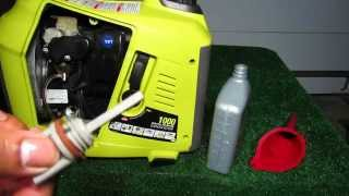 Ryobi 1000 watt inverter generator, RYi1000  oil change after 20 hour break in