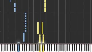 Help - The Beatles (Easy Piano Tutorial) in Synthesia (100% speed)