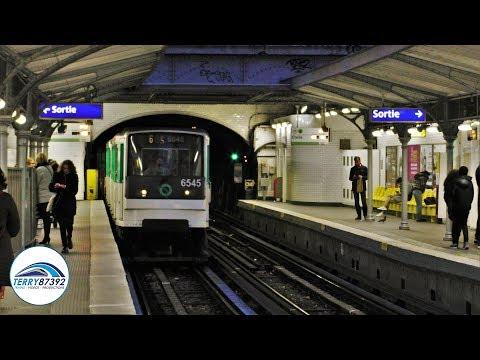 Métro de Paris - ligne 6 : Matériel MP73 Ratp - Stations Bir-Hakeim/Passy