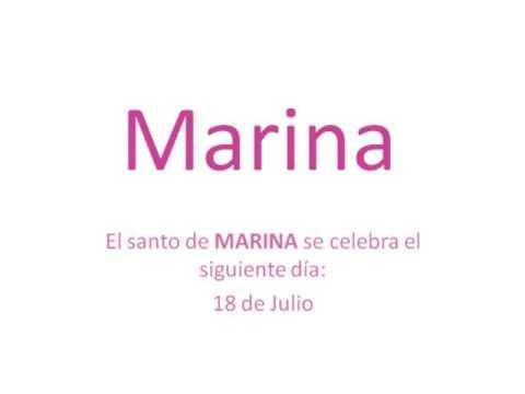 Significado y origen del nombre Marina