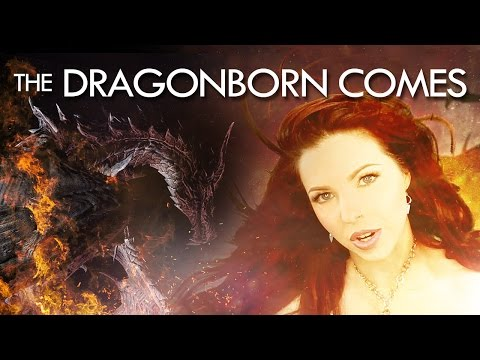 👑 SKYRIM THEME SONG: The Dragonborn Comes - by LEAH 👑