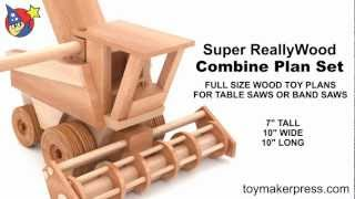 Wood Toy Plans - Fun John Deere Harvester Farm Combine