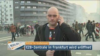 #Blockupy Frankfurt: Tränengas der Polizei erwischt Reporter, 18. März 2015
