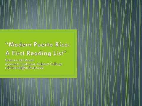 Modern Day Puerto Rico: A First Reading List
