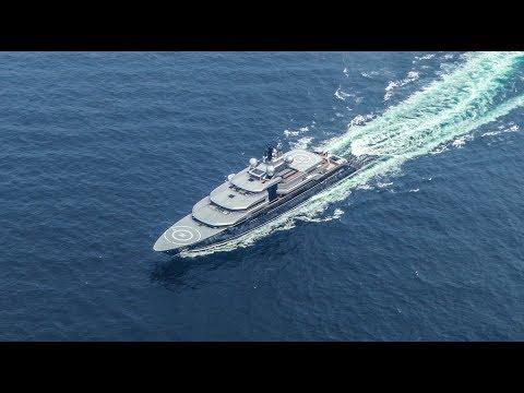 135m Lürssen Project Thunder sea trials - 4K