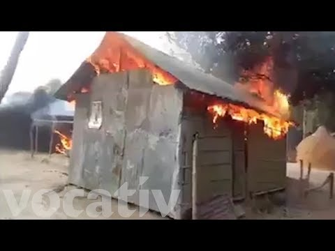 A Mob Of Bangladeshi Muslims Burned Down 30 Homes Of Hindu Villagers