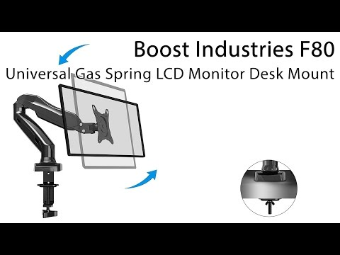 Boost Industries Universal Gas Spring LCD Monitor Desk Mount