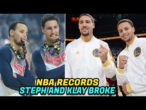 NBA RECORDS Steph Curry and Klay Thompson...