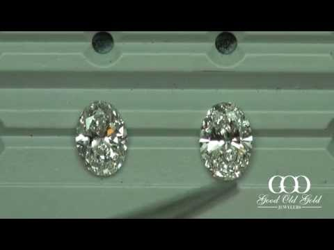 Oval Brililant's 2ct size, H colors, SI1 clarities
