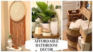 BATHROOM DECOR IDEAS | Bathroom transformation TJ Maxx, Ross, Marshalls