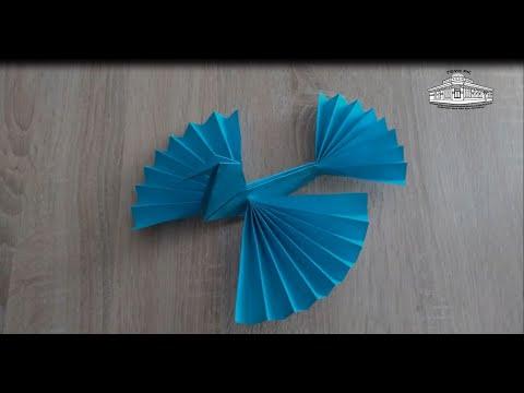 Оригами жар птица из бумаги