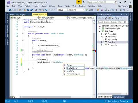 DataGridView Formating c#